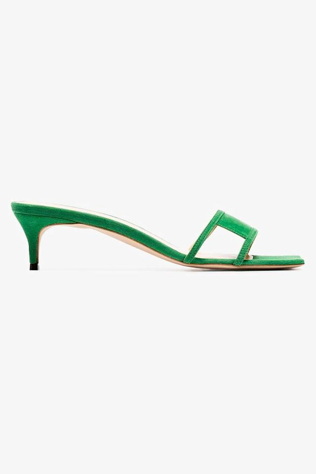 """<p><a class=""""body-btn-link"""" href=""""https://www.brownsfashion.com/uk/shopping/green-virgo-45-suede-leather-mules-13315898"""" target=""""_blank"""">SHOP NOW</a></p><p>By Far, one of the most Instagram-friendly brands of the moment, has an excellent selection of colourful square-toed sandals.</p><p><em>Suede sandals, £290, By Far at Browns</em></p>"""