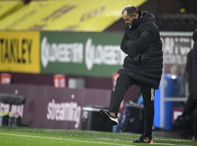 Nuno Espirito Santo made the comments after Wolves game at Burnley