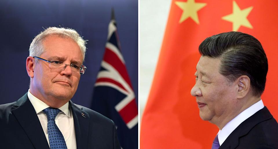 Both Scott Morrison and Xi Jinping appear unlikely to back down from the ongoing dispute. Source: Getty