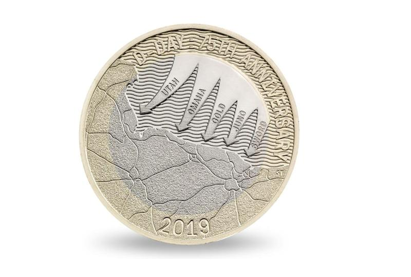 A special coin has been released to mark 75 years since D-Day. Photo: Royal Mint