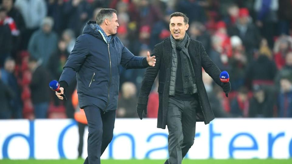 Jamie Carragher y Gary Neville, rivalidad dentro y fuera del terreno de juego | Michael Regan/Getty Images