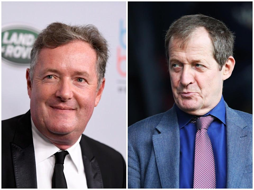 <p>Alastair Campbell, right, will co-present Good Morning Britain for a few days next month. Piers Morgan, right, left the programme in March</p> (Getty)