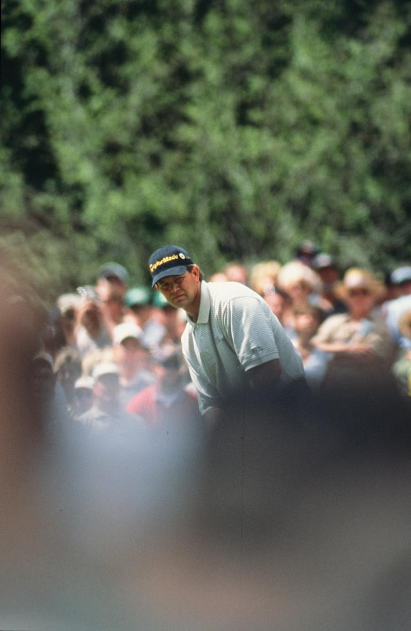 Retief Goosen During The 2002 Masters Tournament (Photo by Augusta National/Getty Images)