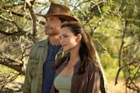 """<p>Distraught after their son leaves for college, Manhattanite Kate Conrad (Kristin Davis) books an extravagant trip to Africa with her husband, but he shocks her by ending their marriage before they can jet off. Jilted, Kate carries on for a solo safari and ends up on an elephant rescue mission with her pilot, Derek Holliston (<a class=""""link rapid-noclick-resp"""" href=""""https://www.popsugar.com/Rob-Lowe"""" rel=""""nofollow noopener"""" target=""""_blank"""" data-ylk=""""slk:Rob Lowe"""">Rob Lowe</a>), that convinces her to extend her stay through Christmastime. </p> <p>Watch <a href=""""https://www.netflix.com/title/80231468"""" class=""""link rapid-noclick-resp"""" rel=""""nofollow noopener"""" target=""""_blank"""" data-ylk=""""slk:Holiday in the Wild""""><strong>Holiday in the Wild</strong></a> on Netflix now.</p>"""