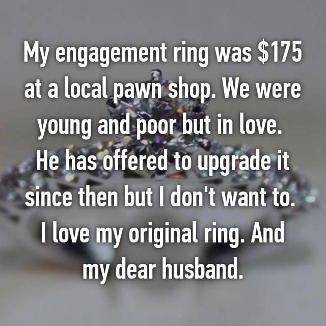 But most said their ring had too much sentimental value. Photo: Whisper.com
