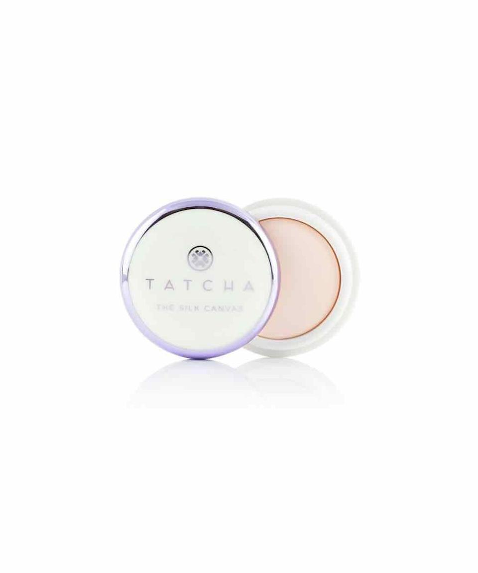 """<p><strong>Tatcha</strong></p><p>sephora.com</p><p><strong>$52.00</strong></p><p><a href=""""https://go.redirectingat.com?id=74968X1596630&url=https%3A%2F%2Fwww.sephora.com%2Fproduct%2Fthe-silk-canvas-P428661&sref=https%3A%2F%2Fwww.oprahmag.com%2Fbeauty%2Fskin-makeup%2Fg31101896%2Fbest-sweat-proof-makeup-products%2F"""" rel=""""nofollow noopener"""" target=""""_blank"""" data-ylk=""""slk:SHOP NOW"""" class=""""link rapid-noclick-resp"""">SHOP NOW</a></p><p>After cleansing skin, Spickard recommends applying a powder primer, like this one, as it gives concealer something to grab onto. <br></p>"""