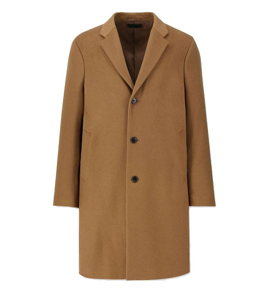 "<p>Every man should have a classic camel coat in his wardrobe. At $150, this one is a major steal.<br>Shop it: Uniqlo Men Wool Cashmere Chesterfield Coat, $150, <a href=""https://fave.co/2zwKIL0"" rel=""nofollow noopener"" target=""_blank"" data-ylk=""slk:uniqlo.com."" class=""link rapid-noclick-resp"">uniqlo.com.</a> </p>"