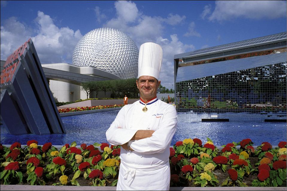 Chef Paul Bocuse first opened Les Chefs de France at Epcot in 1982, the first Bocuse-affiliated restaurant in America. He achieved 3 Michelin stars for 48 straight years at his Lyon restaurant, Auberge du Pont de Collonges. (Getty Images)