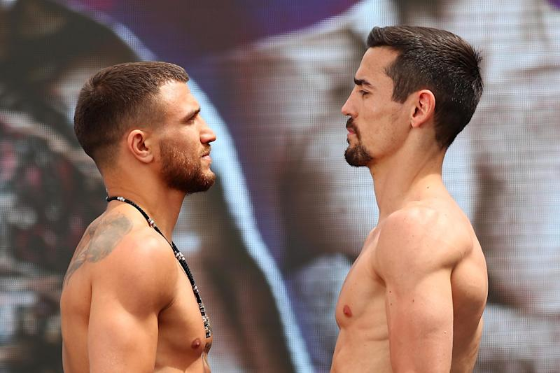 Crolla suffered a fourth-round knockout when he went face-to-face with Lomachenko Photo: Getty Images