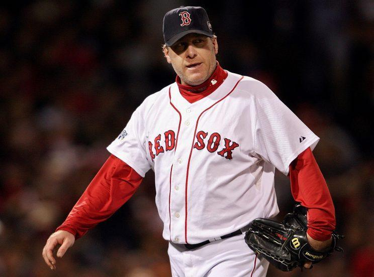 Curt Schilling saw his vote totals fall after a year filled with controversy. (Getty Images/Nick Laham)