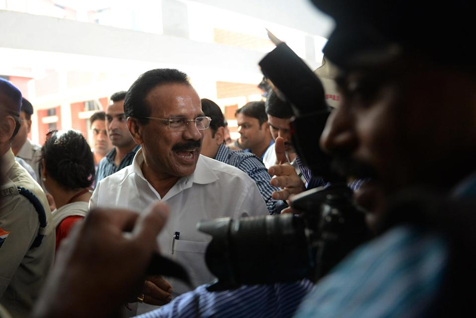 <p>DV Sadananda Gowda in the Indian Parliament on 7 July, 2014. </p> (AFP via Getty Images)