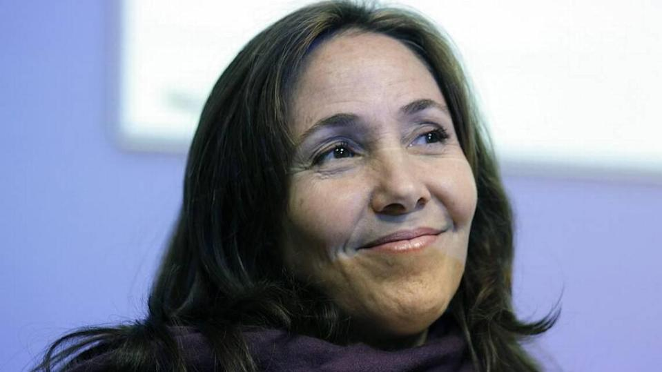 Mariela Castro, daughter of Raúl Castro, in an academic conference at the San Francisco General Hospital in San Francisco on April 30, 2013. Eric Risberg AP