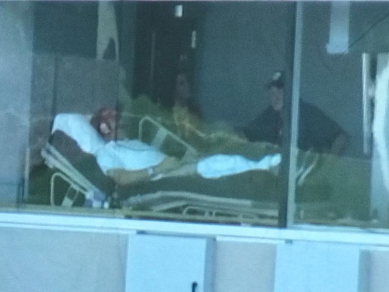 Yes, this is Liberty coach Hugh Freeze coaching from a hospital bed. (via ESPN)