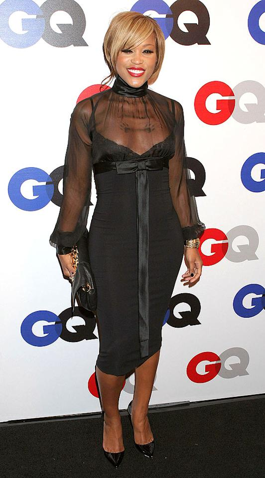 "Rapper Eve looks fabulous in her all-black ensemble. It's great to finally see the Grammy winner throw an outfit together without the need of an alcohol monitoring anklet. Carlos Diaz/<a href=""http://www.infdaily.com"" target=""new"">INFDaily.com</a> - December 5, 2007"