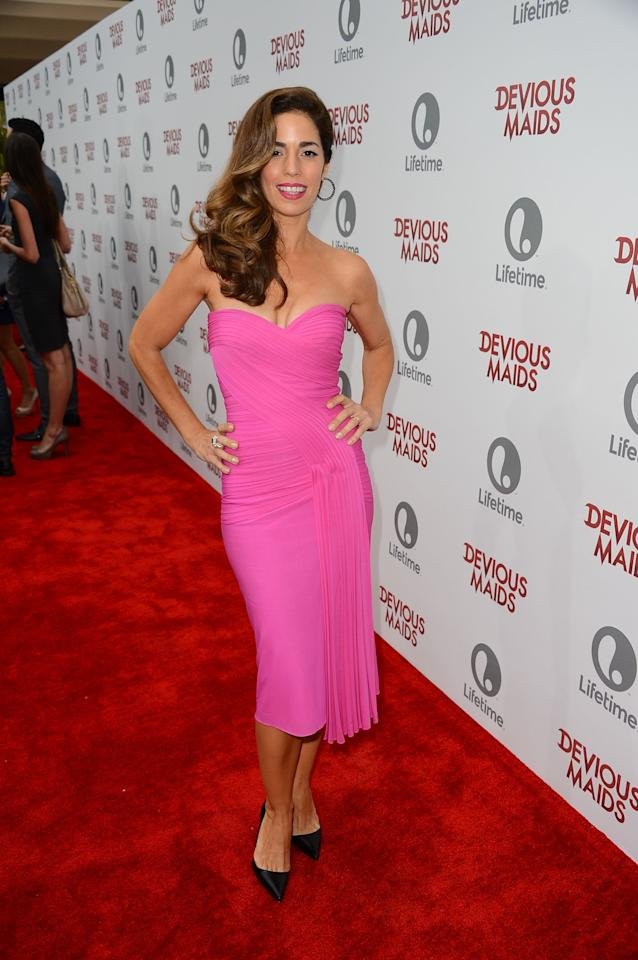 PACIFIC PALISADES, CA - JUNE 17: Actress Ana Ortiz attends the premiere of Lifetime Original Series 'Devious Maids' at Bel-Air Bay Club on June 17, 2013 in Pacific Palisades, California. (Photo by Mark Davis/Getty Images)