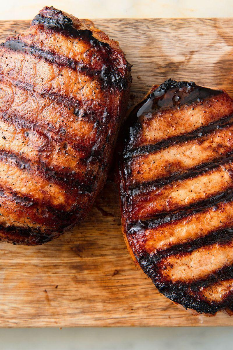 "<p>It's easy to think you may not be a <a href=""https://www.delish.com/uk/cooking/recipes/a29186909/oven-baked-pork-chops-recipe/"" rel=""nofollow noopener"" target=""_blank"" data-ylk=""slk:pork chop"" class=""link rapid-noclick-resp"">pork chop</a> fan. They often come overcooked and dry, but they don't have to be that way. These <a href=""https://www.delish.com/uk/cooking/recipes/a28826183/best-pork-chop-marinade-recipe/"" rel=""nofollow noopener"" target=""_blank"" data-ylk=""slk:pork chops"" class=""link rapid-noclick-resp"">pork chops</a> are marinated to make them extra flavourful and tender. The best way to ensure you aren't overcooking your <a href=""https://www.delish.com/uk/cooking/recipes/a30725251/french-onion-pork-chops-recipe/"" rel=""nofollow noopener"" target=""_blank"" data-ylk=""slk:pork chops"" class=""link rapid-noclick-resp"">pork chops</a> is to use a meat thermometer.</p><p>Get the <a href=""https://www.delish.com/uk/cooking/recipes/a32152630/best-grilled-pork-chops-recipe/"" rel=""nofollow noopener"" target=""_blank"" data-ylk=""slk:Honey Soy Grilled Pork Chops"" class=""link rapid-noclick-resp"">Honey Soy Grilled Pork Chops</a> recipe.</p>"