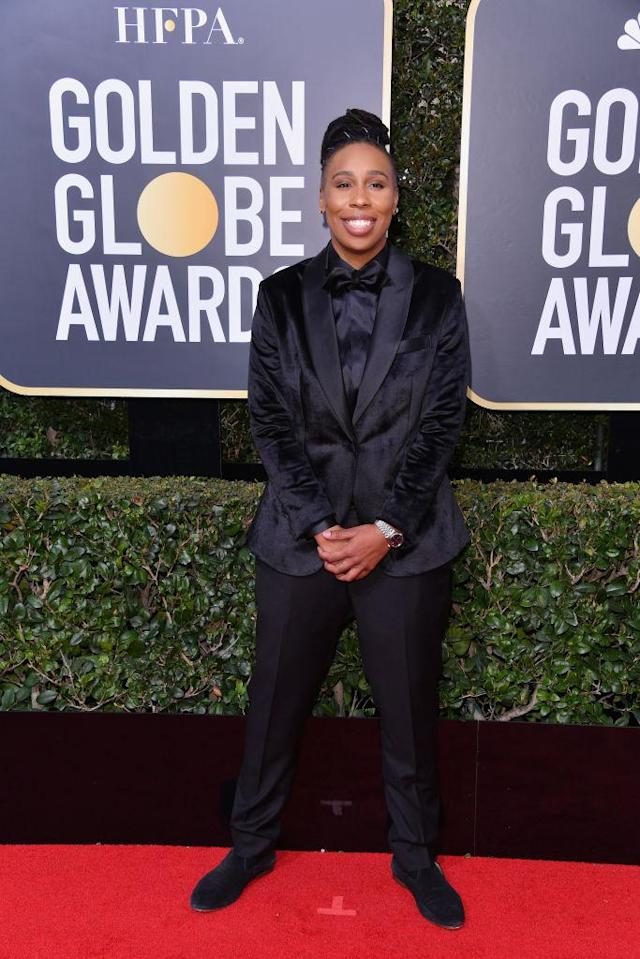 <p>The <em>Master of None</em> actress and writer attends the 75th Annual Golden Globe Awards at the Beverly Hilton Hotel in Beverly Hills, Calif., on Jan. 7, 2018. (Photo: Steve Granitz/WireImag </p>