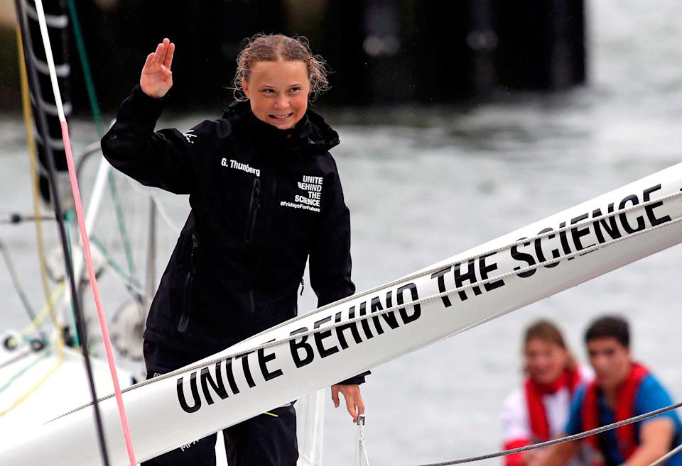 """<p>Thunberg actually became famous for her work on climate change — all at the age of about 14. </p> <p>In 2019, <a href=""""https://people.com/human-interest/teen-climate-activist-greta-thunberg-blasts-world-leaders-un/"""" rel=""""nofollow noopener"""" target=""""_blank"""" data-ylk=""""slk:she famously spoke at the UN Climate Action Summit,"""" class=""""link rapid-noclick-resp"""">she famously spoke at the UN Climate Action Summit,</a> challenging world leaders to do more. </p> <p>""""People are suffering,"""" she said. """"People are dying. Entire ecosystems are collapsing. We are in the beginning of a mass extinction. And all you can talk about is money and fairytales of eternal economic growth.""""</p> <p>""""How dare you!"""" the Nobel Prize nominee thundered.</p> <p>She has since organized numerous climate strikes, encouraging teens and adults to walk out of school and work to demand that world leaders take immediate action to lower carbon emissions.</p>"""