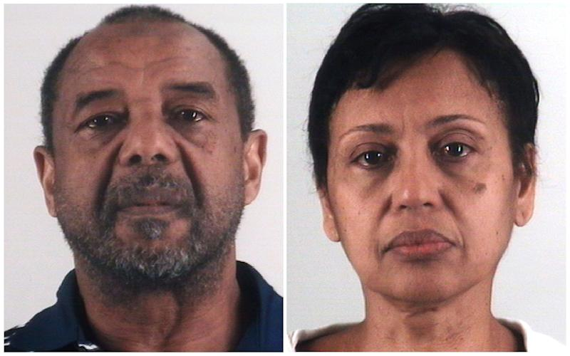 This combination of photos provided by the Tarrant County Sheriff's Department in Texas shows Mohamed Toure, left, and Denise Cros-Toure.