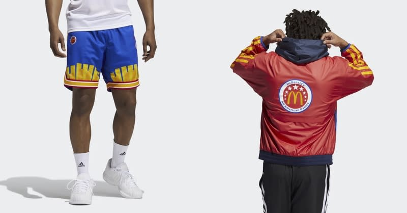 Collage of McDonald's All American Games Apparel