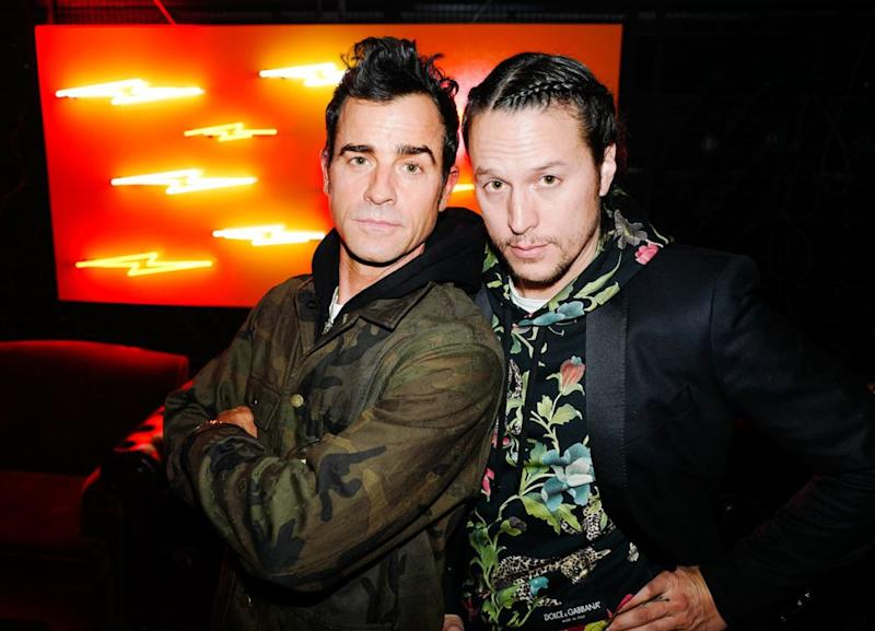 Justin Theroux and Cary Fukunaga at Shinola and Mark Ronson's Grammy afterparty on Jan. 28.