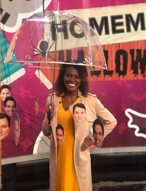 PHOTO: Janai Norman shows us how to make a 'Raining Men' costume for Halloween. (ABC)