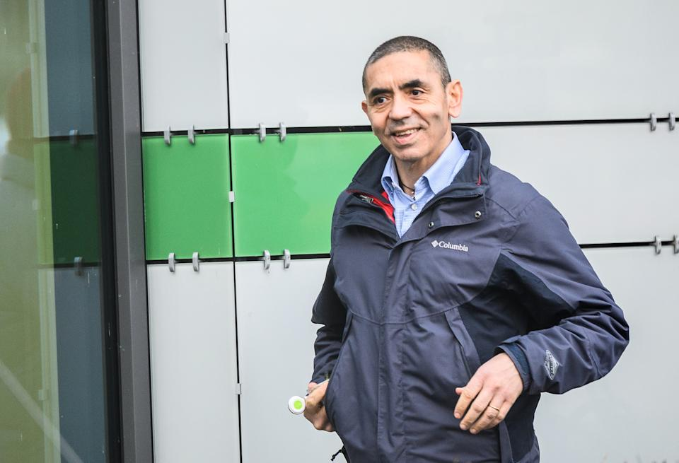 22 December 2020, Hessen, Mainz: Ugur Sahin, co-founder and CEO of Biontech, stands on the company premises. Biontech is a biotechnology company that is researching, among other things, vaccines against the corona virus. The EU Commission recently granted conditional marketing authorisation to the Corona vaccine produced by Biontech and its US partner Pfizer. Photo: Andreas Arnold/dpa (Photo by Andreas Arnold/picture alliance via Getty Images)