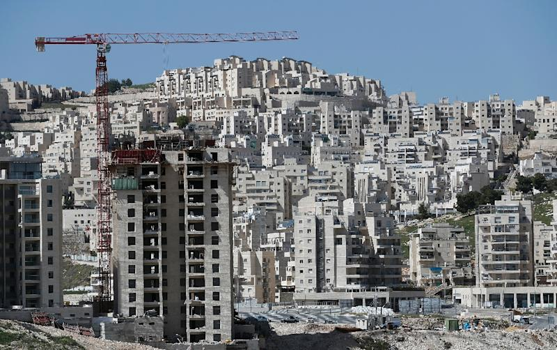 Buildings under construction in the Israeli settlement of Har Homa, in annexed east Jerusalem (AFP Photo/Thomas Coex)