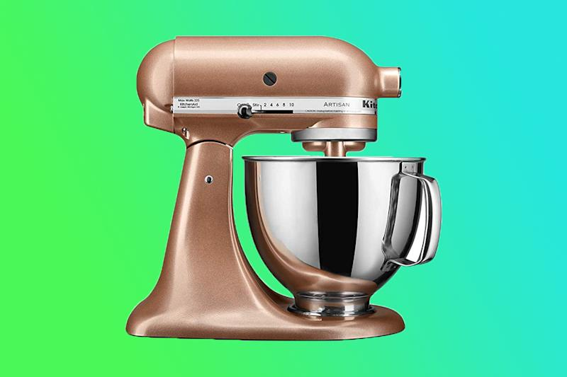 This stunning copper KitchenAid is sure to be the focal point of any kitchen. (Photo illustration: Yahoo Lifestyle; photo: Macy's)