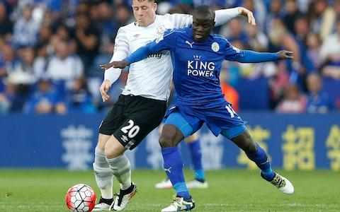 <span>N'Golo Kante made the most tackles and interceptions in the Premier League when Leicester won the title</span> <span>Credit: Reuters </span>