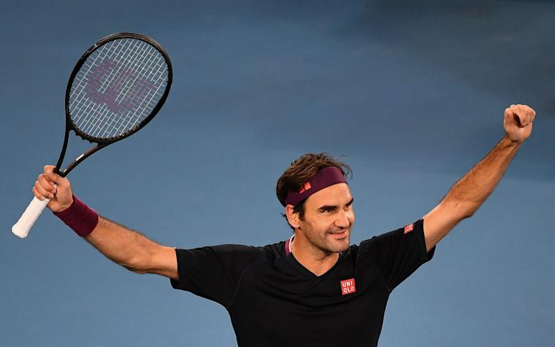 Federer trailed 4-8 in the deciding tie-break - but won six points in a row to progress. - AFP