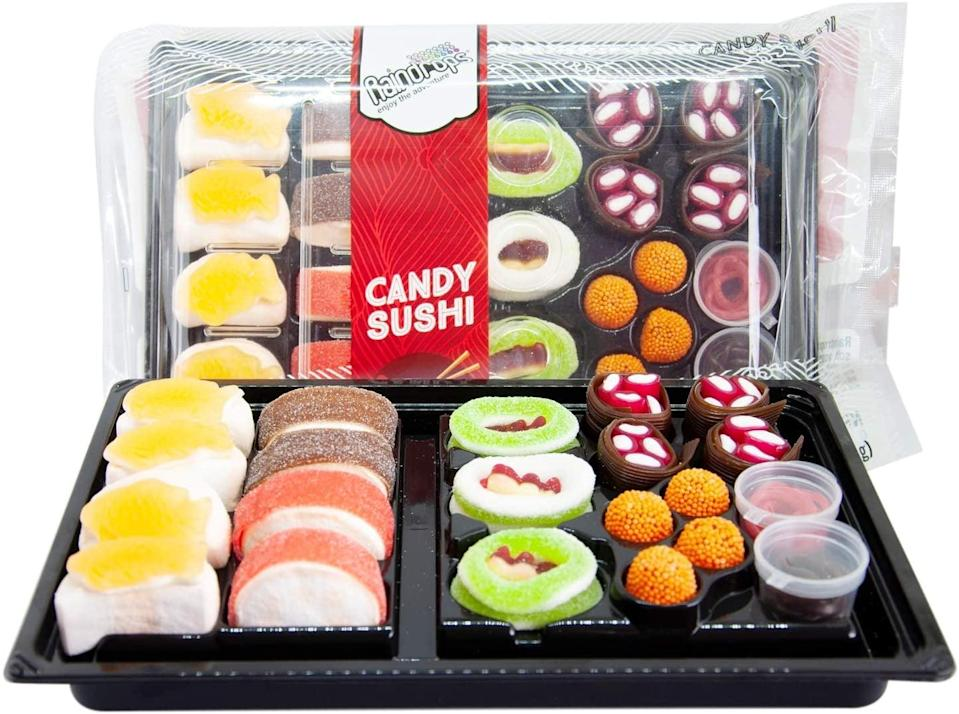 <p>This <span>Raindrops Gummy Candy Sushi Bento Box</span> ($12) is too sweet to pass up.</p>