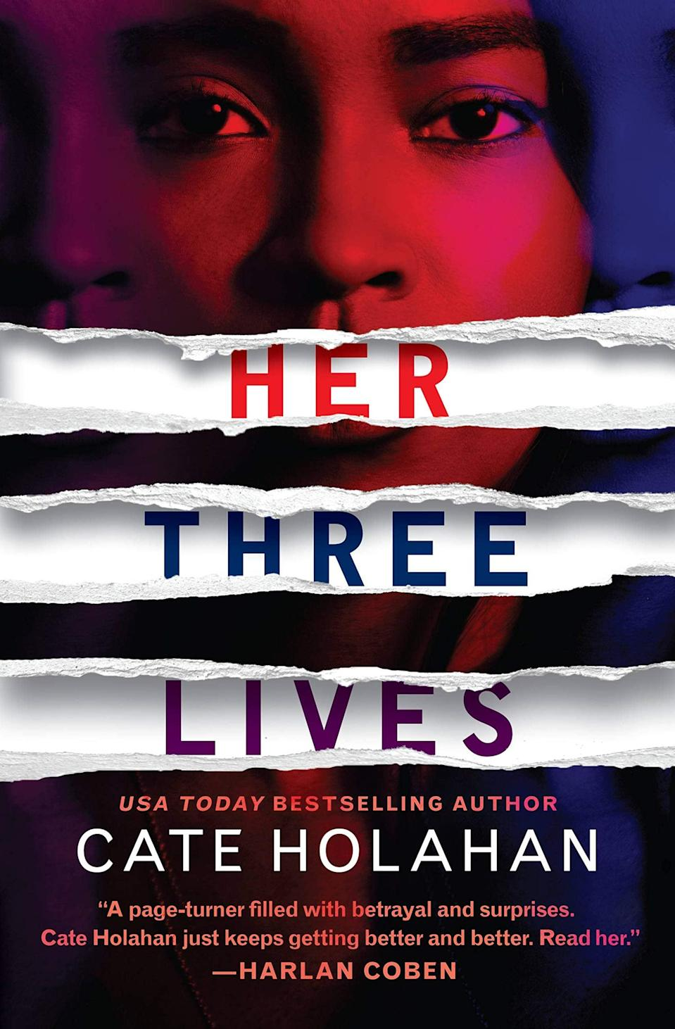 "<p>Craving a domestic thriller you can get lost in this month? Then look no further than <a href=""https://www.amazon.com/Her-Three-Lives-Cate-Holahan/dp/1538736349"" class=""link rapid-noclick-resp"" rel=""nofollow noopener"" target=""_blank"" data-ylk=""slk:Her Three Lives""><strong>Her Three Lives</strong></a> by Cate Holahan. This story of a marriage crumbling in real time takes place after a home invasion leaves the husband housebound and obsessed with uncovering his wife's secrets. </p> <p><em>Out April 20</em></p>"