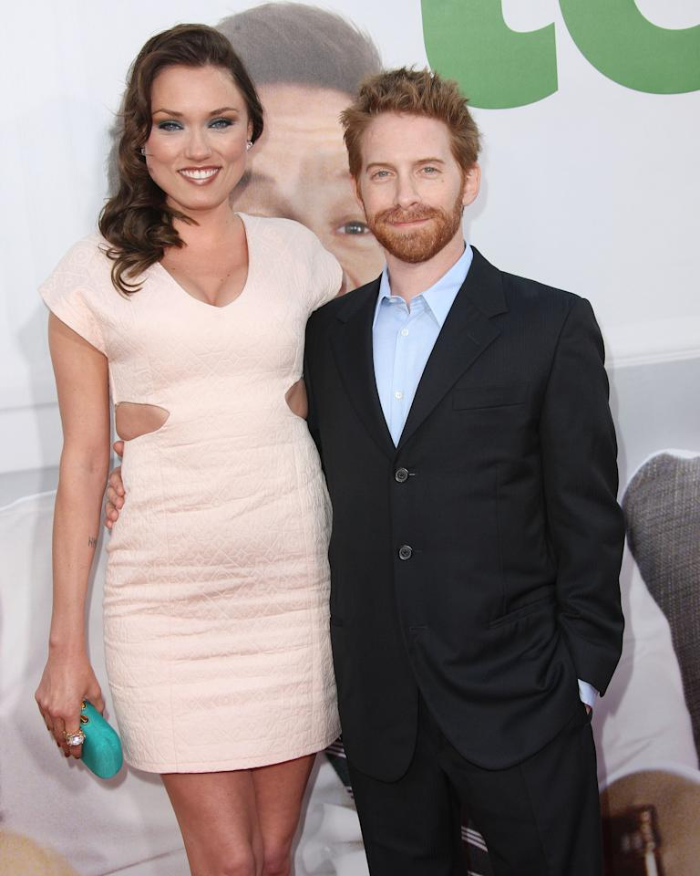 "HOLLYWOOD, CA - JUNE 21: Actress Clare Grant (L) and actor Seth Green attend the Premiere Of Universal Pictures' ""Ted"" at Grauman's Chinese Theatre on June 21, 2012 in Hollywood, California.  (Photo by Frederick M. Brown/Getty Images)"