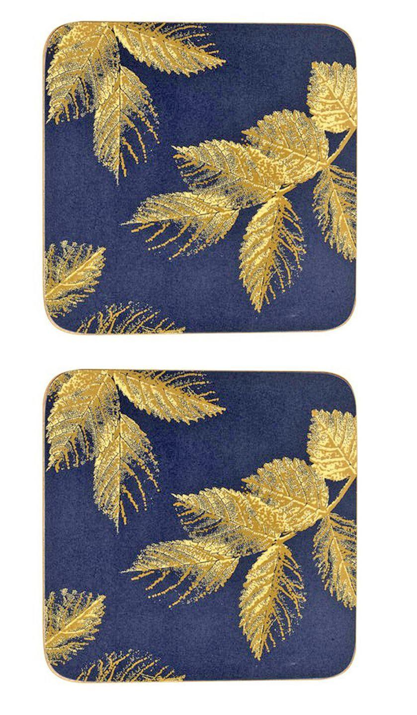"""<p><a rel=""""nofollow noopener"""" href=""""https://www.jdwilliams.co.uk/shop/sara-miller-etched-leaves-navy-coasters/dh264/product/details/show.action?pdBoUid=8010#colour:,size:"""" target=""""_blank"""" data-ylk=""""slk:BUY NOW"""" class=""""link rapid-noclick-resp"""">BUY NOW</a> <strong>JD Williams Home, £10</strong></p><p>These contemporary gold foil embellished coasters will be welcomed in any new home. Not only stylish but they're heat resistant, stain and scuff resistant and easy to wipe clean with a cloth. <a rel=""""nofollow noopener"""" href=""""https://www.jdwilliams.co.uk/shop/sara-miller-etched-leaves-navy-placemats/dh265/product/details/show.action?pdBoUid=8010#colour:,size:"""" target=""""_blank"""" data-ylk=""""slk:Matching placemats are available too"""" class=""""link rapid-noclick-resp"""">Matching placemats are available too</a>.</p>"""