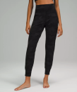 """<p><strong>Lululemon</strong></p><p>lululemon.com</p><p><strong>$98.00</strong></p><p><a href=""""https://go.redirectingat.com?id=74968X1596630&url=https%3A%2F%2Fshop.lululemon.com%2Fp%2Fwhat-we-love%2FAlign-Jogger%2F_%2Fprod9200027&sref=https%3A%2F%2Fwww.womenshealthmag.com%2Ffitness%2Fg36719192%2Fbest-joggers-for-women%2F"""" rel=""""nofollow noopener"""" target=""""_blank"""" data-ylk=""""slk:Shop Now"""" class=""""link rapid-noclick-resp"""">Shop Now</a></p><p><a href=""""https://www.bande.com/login"""" rel=""""nofollow noopener"""" target=""""_blank"""" data-ylk=""""slk:Bande"""" class=""""link rapid-noclick-resp"""">Bande</a> founder <a href=""""https://www.instagram.com/amandajanejenny/"""" rel=""""nofollow noopener"""" target=""""_blank"""" data-ylk=""""slk:Amanda Jenny"""" class=""""link rapid-noclick-resp"""">Amanda Jenny</a> says the Align is """"great for working out, lounging, and travel because they're butter-soft and lightweight."""" Katelyn DiGiorgio, Pure Barre VP of training and technique, loves them for studio classes like barre, yoga, or Pilates, too. Likening the high-rise fit to the famed Align leggings, she says, """"While being a relaxed jogger pant, they have a slim, athletic fit through the legs. This allows you to move a bit more comfortably but still see and recognize form and alignment on your own body while in class.""""</p>"""
