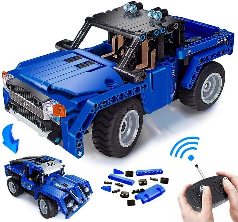 <p>Get them a toy they can learn with, and treat them to the <span>Ertoy Remote Control Building Stem Toy Kits</span> ($38). Not only will they have fun building it, but also playing it when it's done.</p>