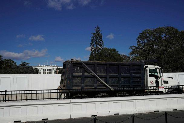 PHOTO: A dump truck drives on the South side of the White House, the day before the presidential election, in Washington, Nov. 2, 2020. (Erin Scott/Reuters)