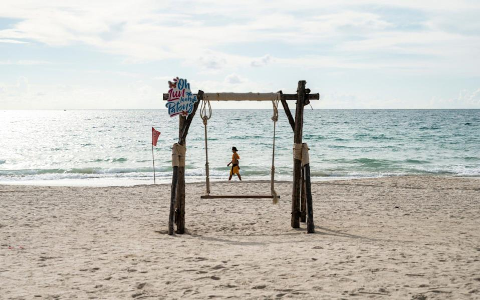 Thailand beat the first wave of coronavirus with strict lockdowns - but, as this empty beach in Phuket shows, there have been far-reaching consequences - Sirachai Arunrugstichai / Getty