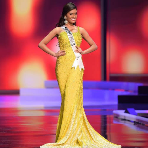 She made Philippines proud when she entered the Top 21 at the Miss Universe pageant in Hollywood, Florida