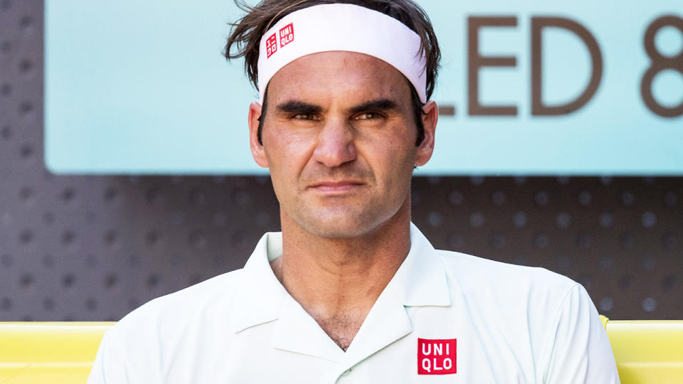 Roger Federer, pictured here during a match at the Madrid Open in 2019.