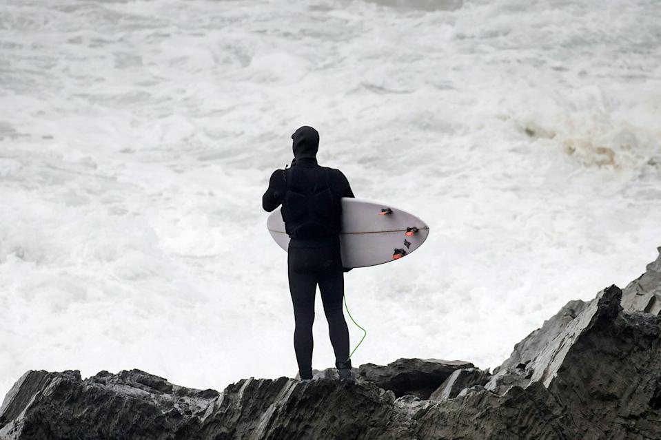 Jeff Scott (not pictured) travelled to catch Britain's biggest wave - dubbed the 'Widow-Maker'. (SWNS)