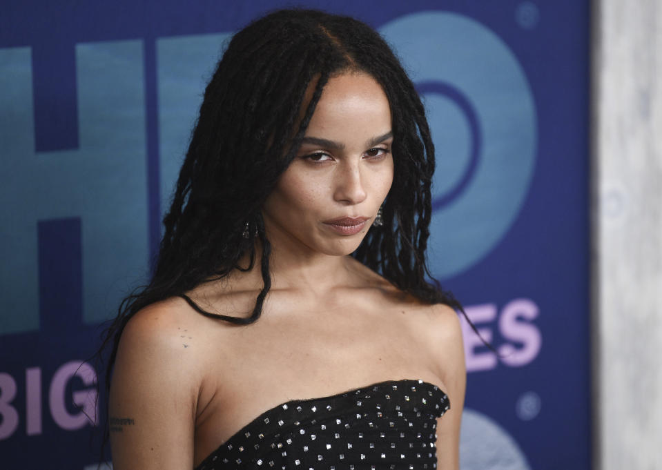 "Zoe Kravitz attends the premiere of HBO's ""Big Little Lies"" season two at Jazz at Lincoln Center on Wednesday, May 29, 2019, in New York. (Photo by Evan Agostini/Invision/AP)"