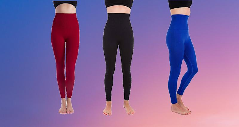 These tummy-compression leggings can make you look (and feel!) great in ten colors. (Photo: Amazon)