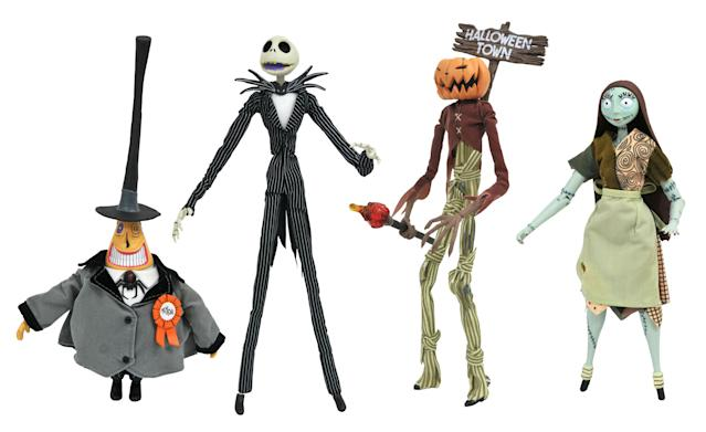 <p>Hard as it is to believe, Jack Skellington and his Halloweentown pals are 25 years young. Celebrate the movie's silver anniversary with these ghoulishly great figures. (Photo: Diamond Select Toys) </p>
