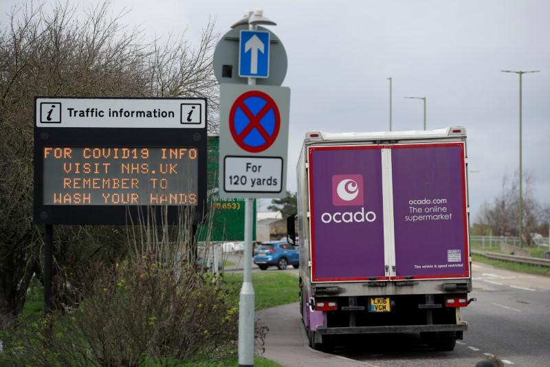 General view of a message on a traffic information sign