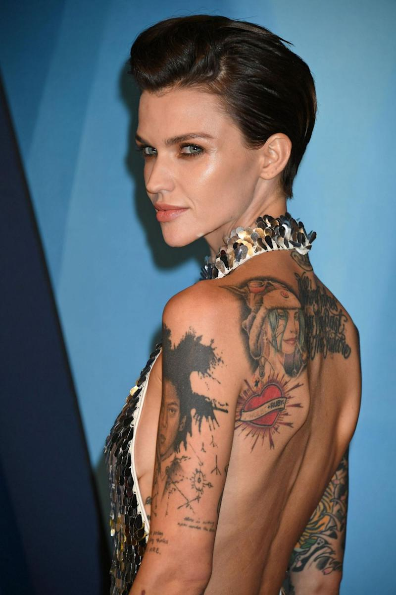 Ruby Rose (here at the 2017 Country Music Awards) has hit back at a dietitian who said she was
