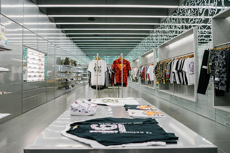 Another look inside the new Bape store in New York City's SoHo neighborhood. - Credit: Courtesy of Bape