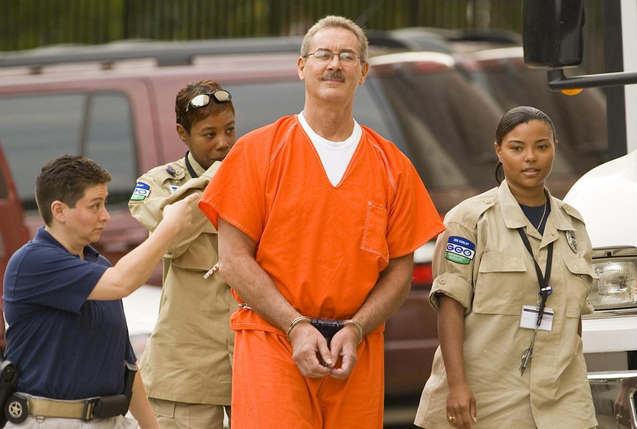 R. Allen Stanford is scheduled to be sentenced on June 14 and could face up to life in prison. The former chairman of Stanford Financial Group was indicted on 21 counts in March for a $7 billion fraud. The charges included conspiracy to launder money, fraud, and obstruction of justice. Photo: Robert Allen Stanford arrives for a bond hearing on June 25, 2009 in Houston, Texas.