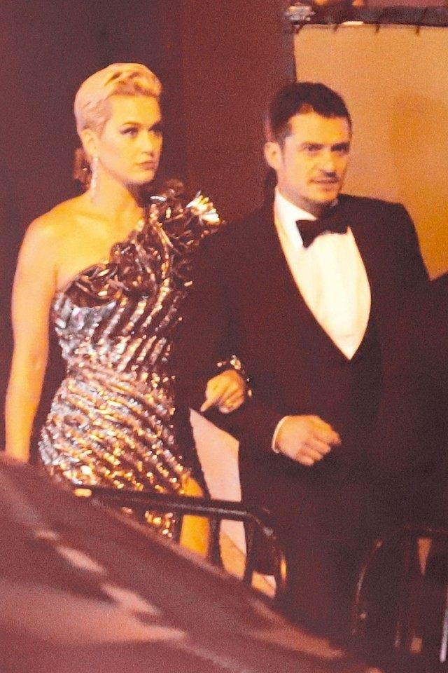 Katy Perry and Orlando Bloom arriving at Beyonce and Jay Z's party